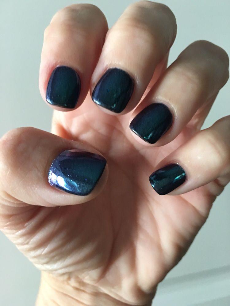 Navy chrome nails-soooo cool! Thx Ada! - Yelp