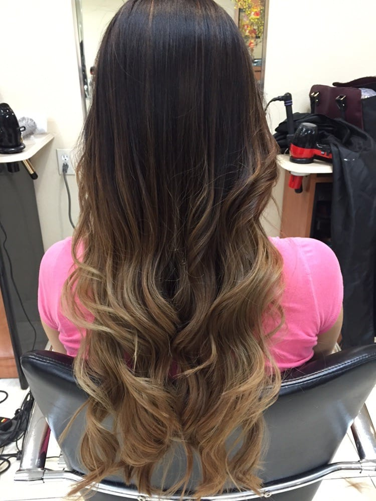 Balayage/ombre bottom dark ash blonde hair w/highlights ...