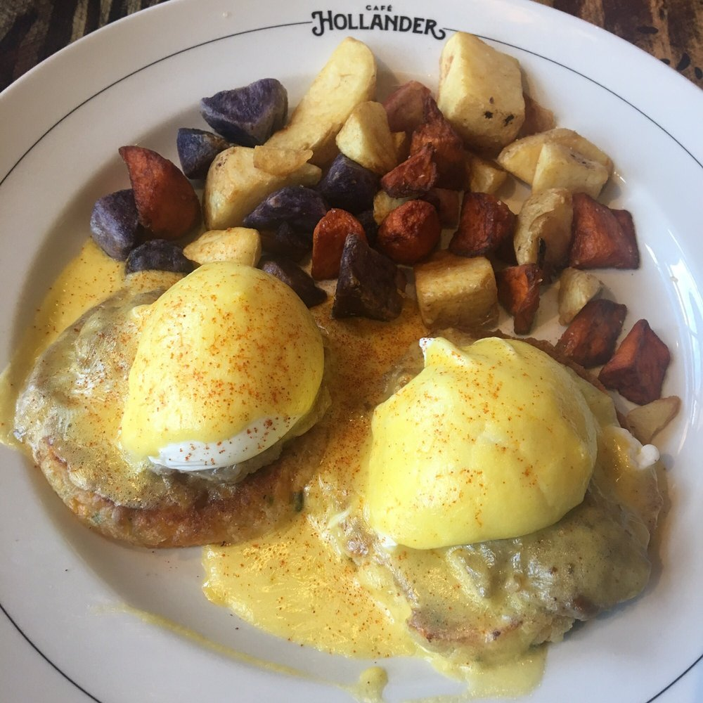 Eggs Benedict With The Cheddar Biscuits Yelp