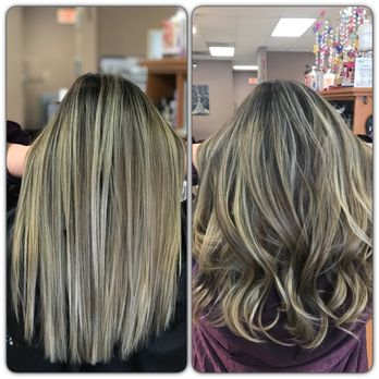 I LOVE IT both straight or curled. Ash blonde Ombre Balayage