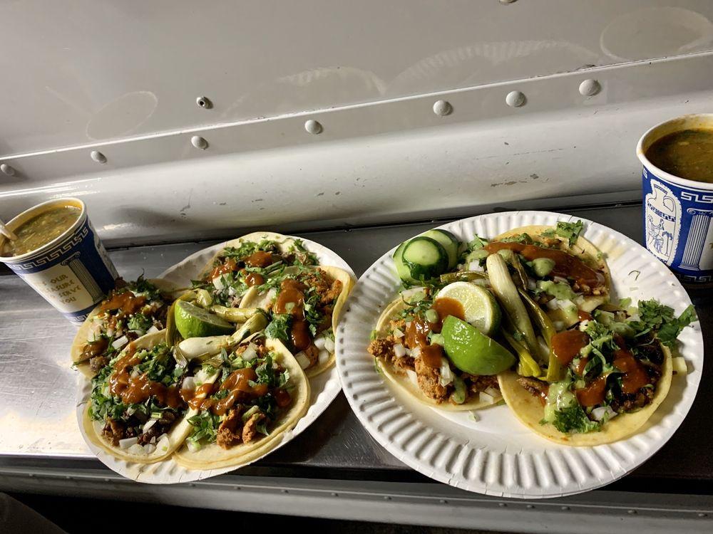 Food from Tacos El Bronco