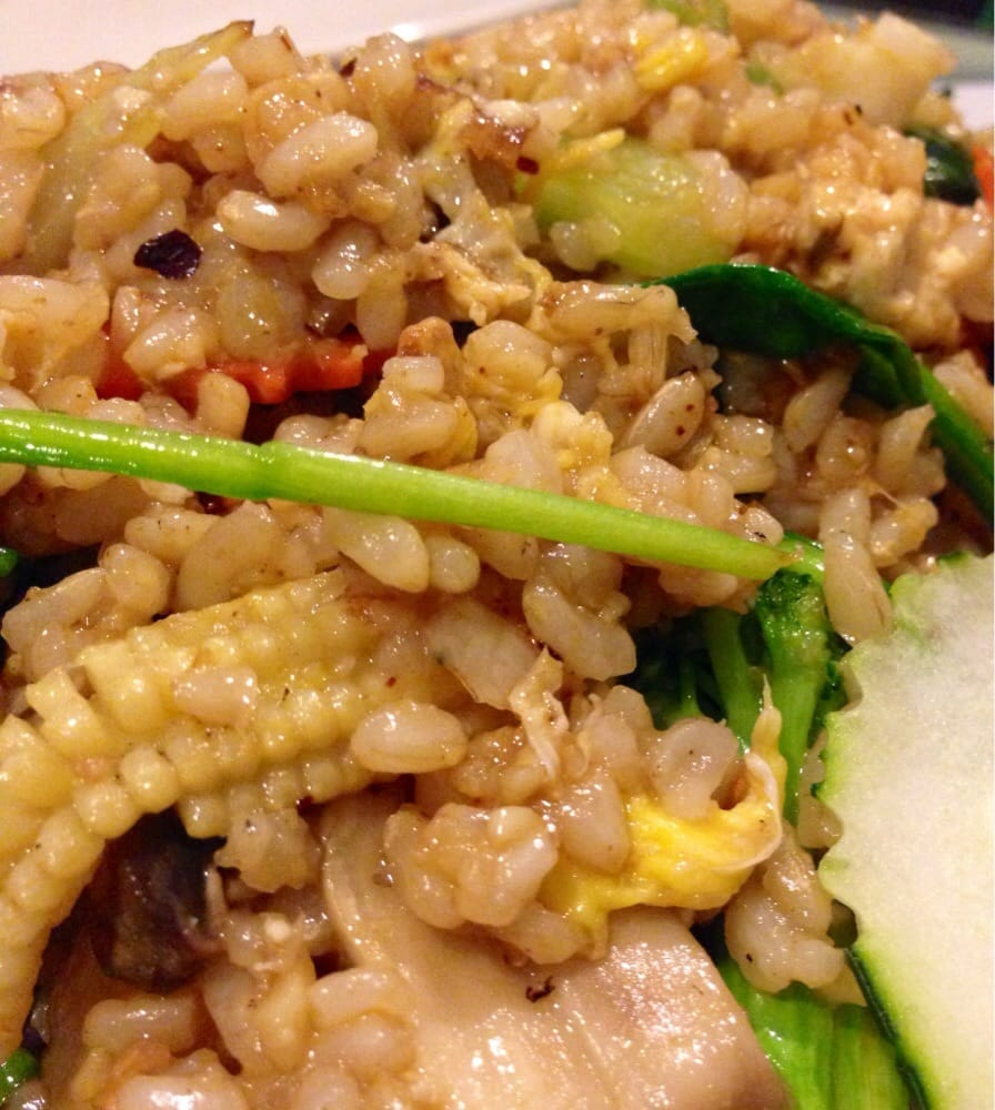 A close look at the serious garlic and spinach rice yelp for Angel thai cuisine glendale
