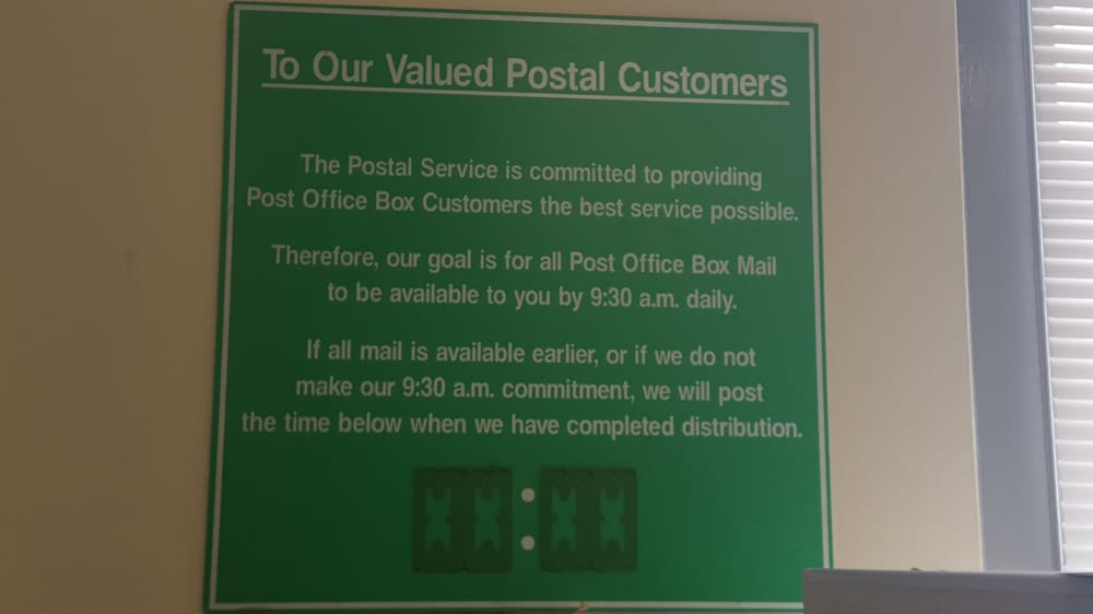 will post office be open tomorrow