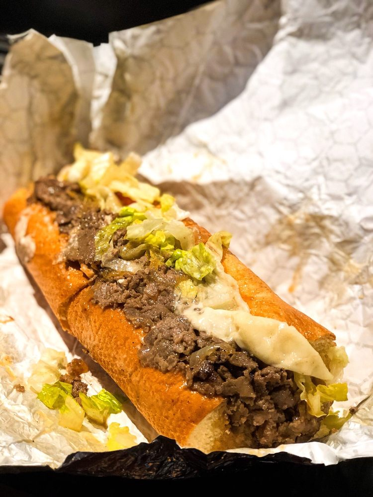 Food from Buster's Cheesesteak
