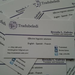 Tradubeledi translations translation services corpus christi tx photo of tradubeledi translations corpus christi tx united states business cards colourmoves Image collections
