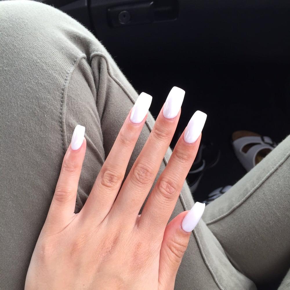 full set gel all white nails: LOVE - Yelp