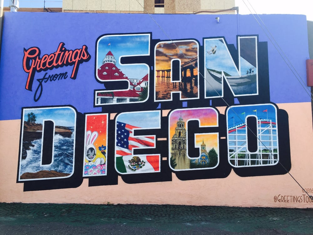 Greetings From San Diego Mural By Greetings Tour - North ...