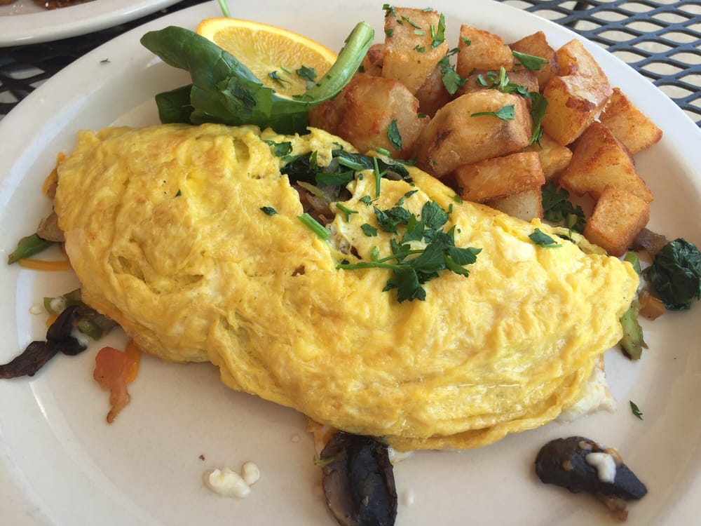 Green omelette mushrooms onions spinach very good - Green vegetarian cuisine ...