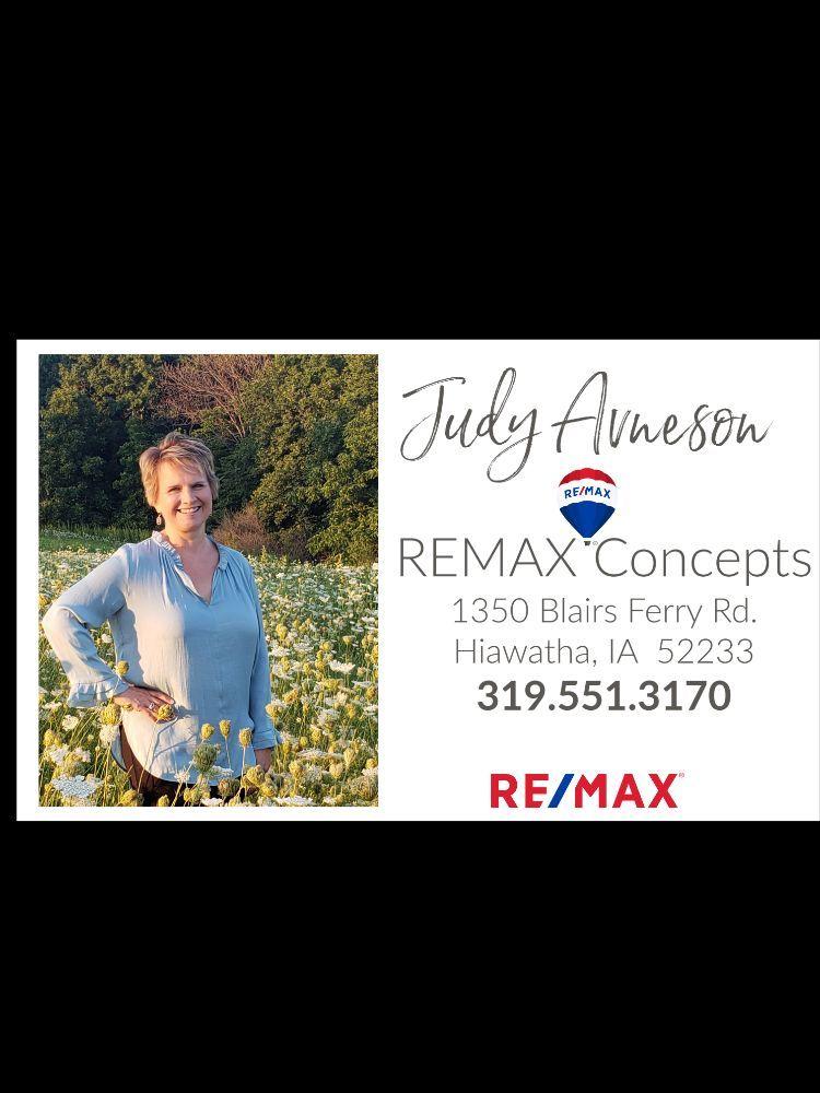 Judy Avenson - REMAX Concepts: 1350 Blairs Ferry Rd, Hiawatha, IA