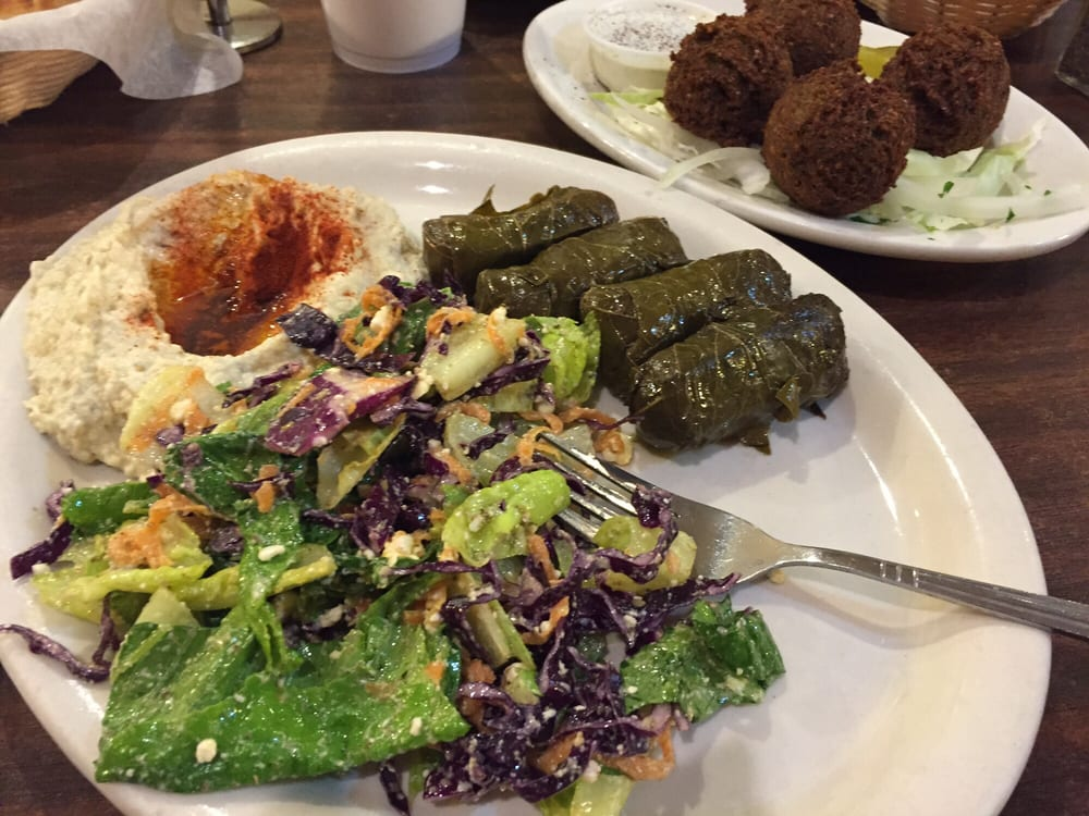 Baba ghanoush greek salad grape leaves and falafels yelp for Aladdins cuisine