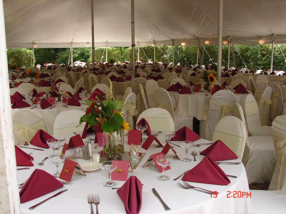 Wedding Reception Tent At The Blanton House In Danville Indiana