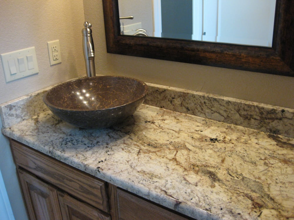 ... , TX, United States. Typhoon Bordeaux Granite Bathroom Countertop