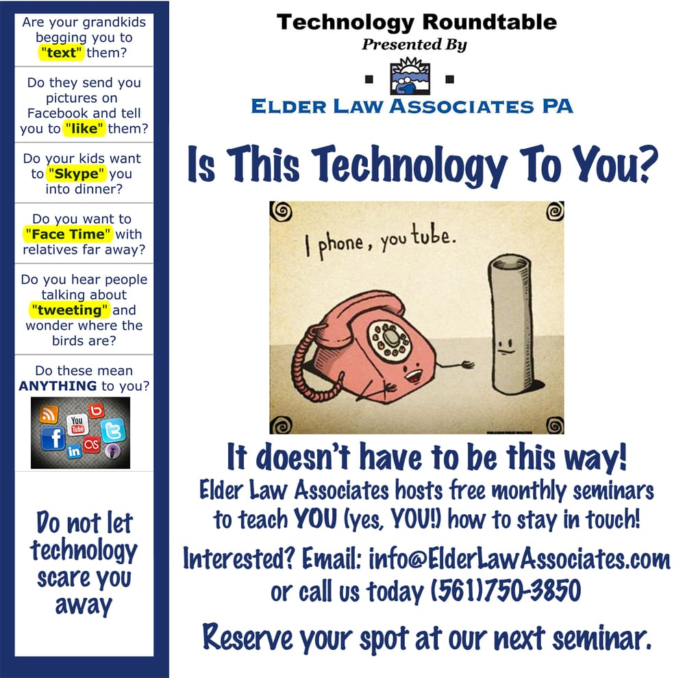 Tweet? FaceTime? Huh? Learn to conquer technology and stay