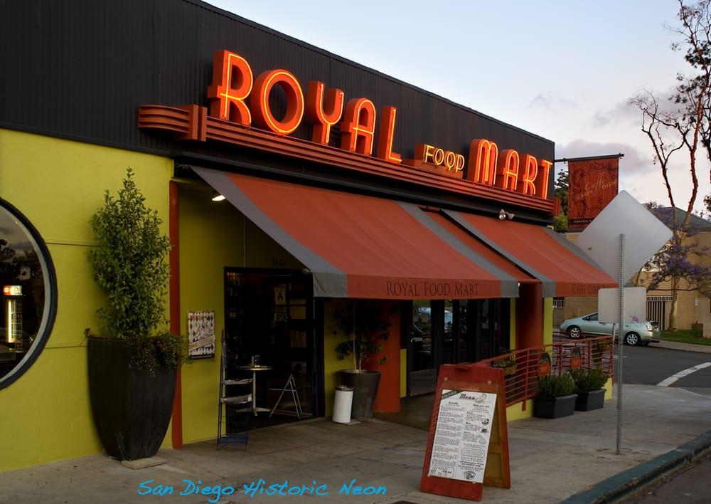 Streamline Art Deco neon is rare in San Diego. Royal Food ...