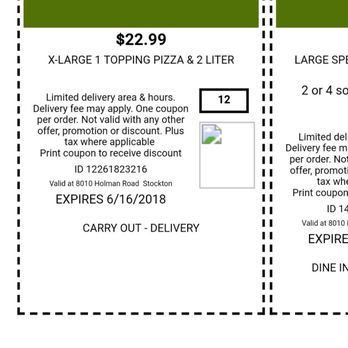 Photo Of Round Table Pizza Stockton Ca United States Here S The Coupon