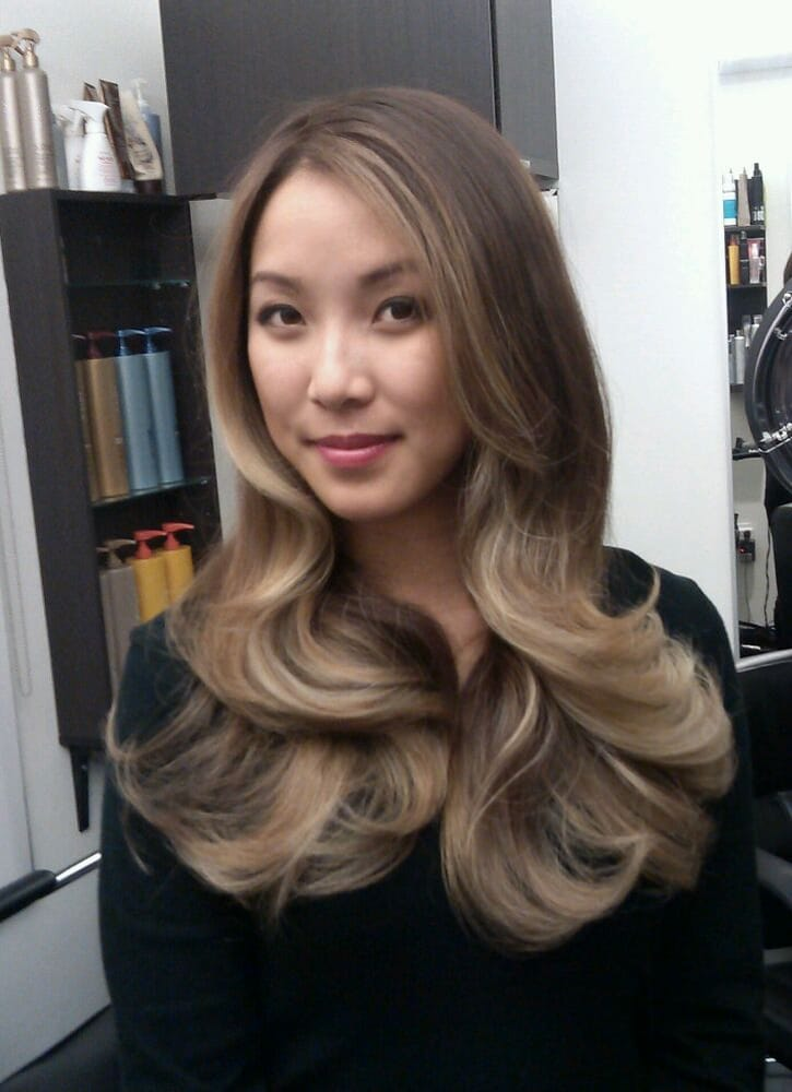 Balayage Graduated Ash Ombre on Asian hair by Guy Tang.  Yelp