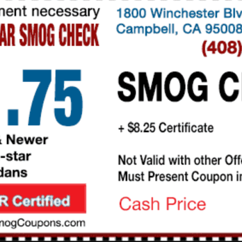 How Much Is A Smog Check >> Campbell Star Smog Check 34 Photos 63 Reviews Smog Check