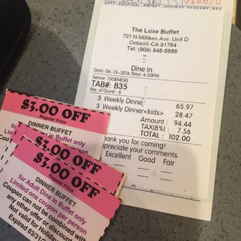 picture relating to The Luxe Buffet Printable Coupon identify Luxe buffet costs : Decatur dmv