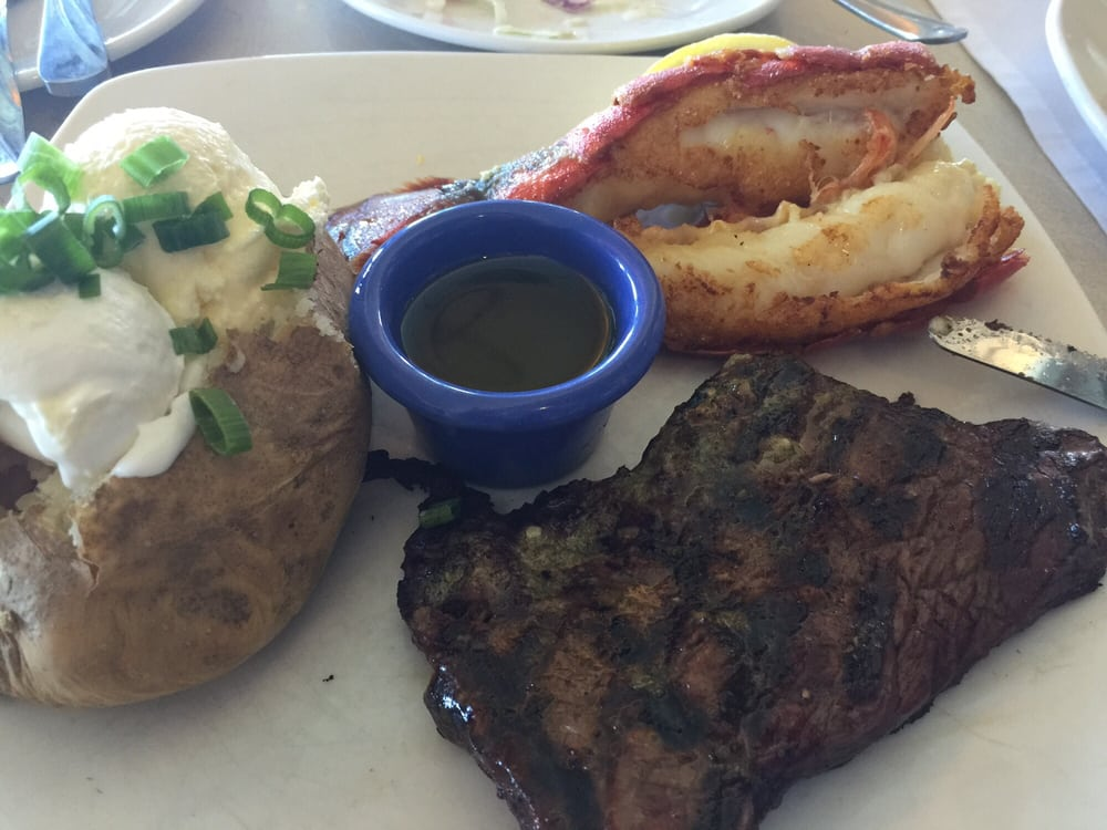 Steak very dry but lobster tail is good yelp for Anthony s fish grotto san diego