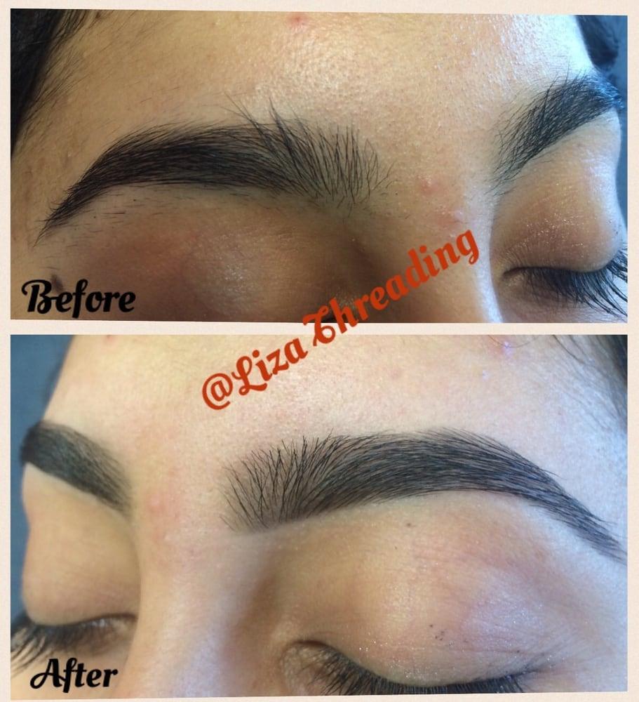 Learn to thread eyebrows