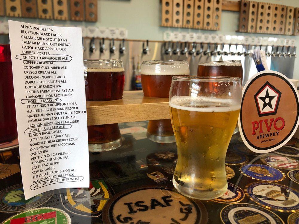 PIVO Brewery: 101 Huber Dr, Calmar, IA