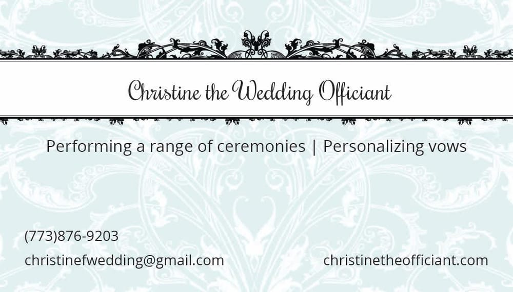 Christine The Officiant