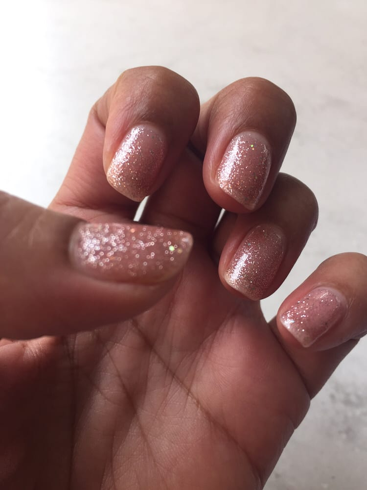 June Bride nail color by Gelish. Love a lil sparkle:) - Yelp