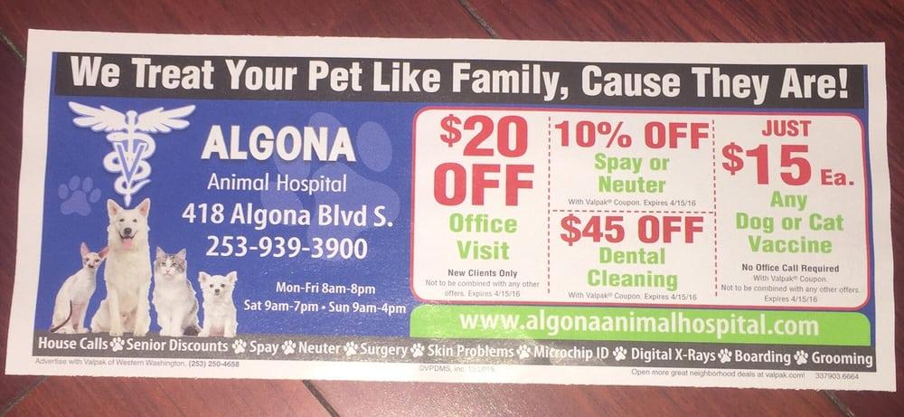 Algona Animal Hospital: 418 Algona Blvd S, Algona, WA