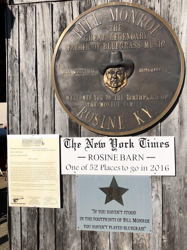 Bill Monroe Museum: 55 Amelia St, Rosine, KY