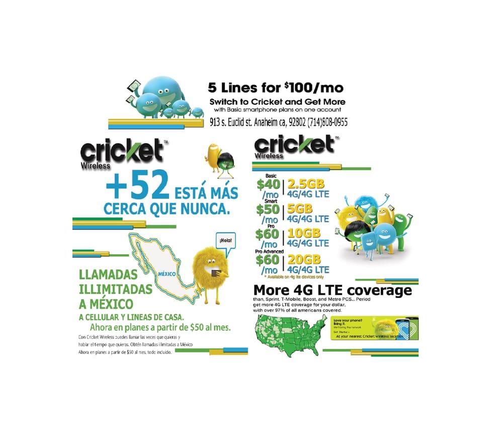 Cricket wireless customer service - Cricket Wireless Mobile Phones 913 S Euclid St Anaheim Ca Phone Number Yelp