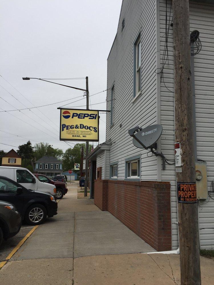 Peg & Doc's Sports Bar & Grill: 106 Dane St, Dane, WI
