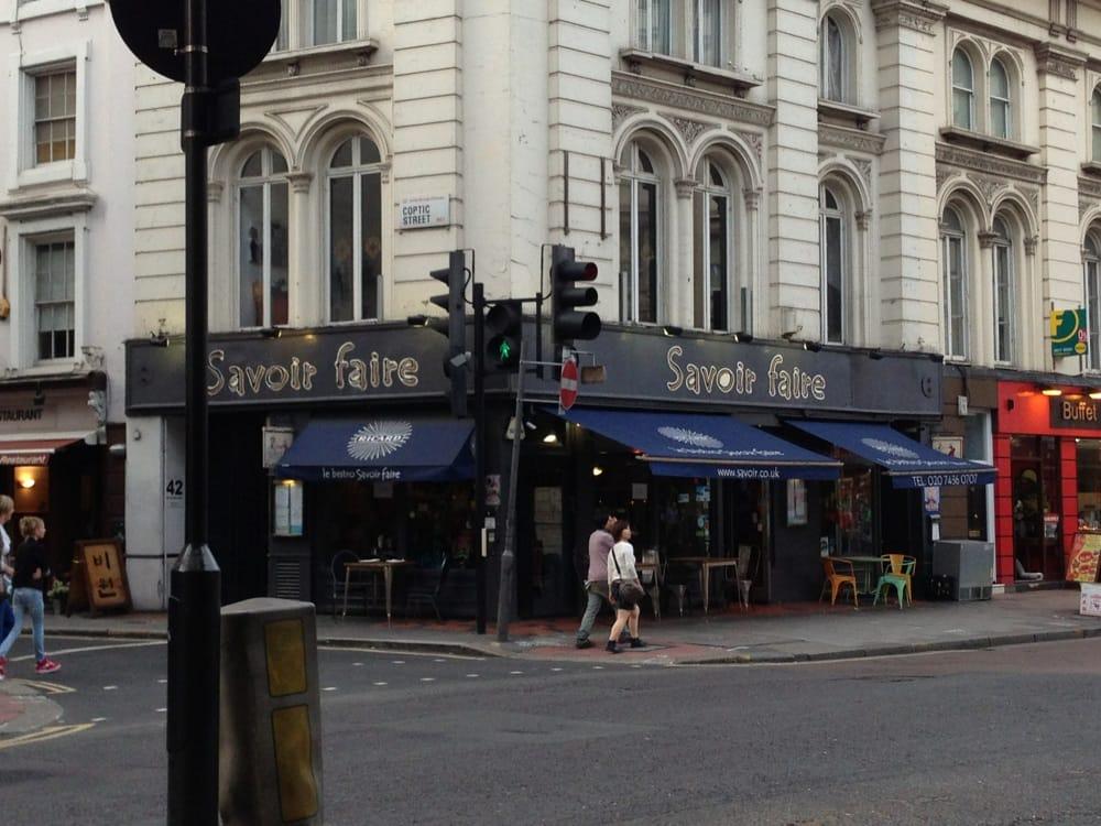 French Restaurants Near Tottenham Court Road