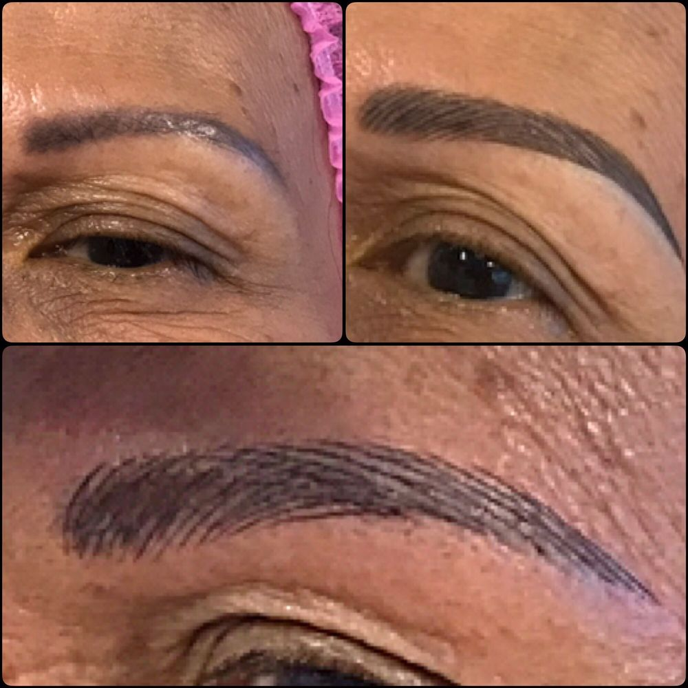 My Moms Eyebrow Correction From Old Grey Tattoo Eyebrows To