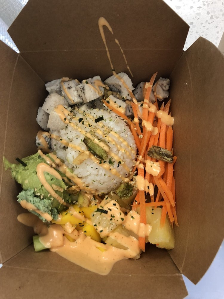 Food from F&F Poke Bowl