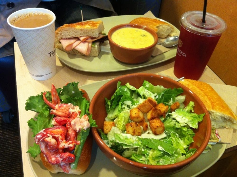 lobster roll, caesar salad, broccoli cheddar soup, sierra turkey sandwich, hibiscus & acai berry ...