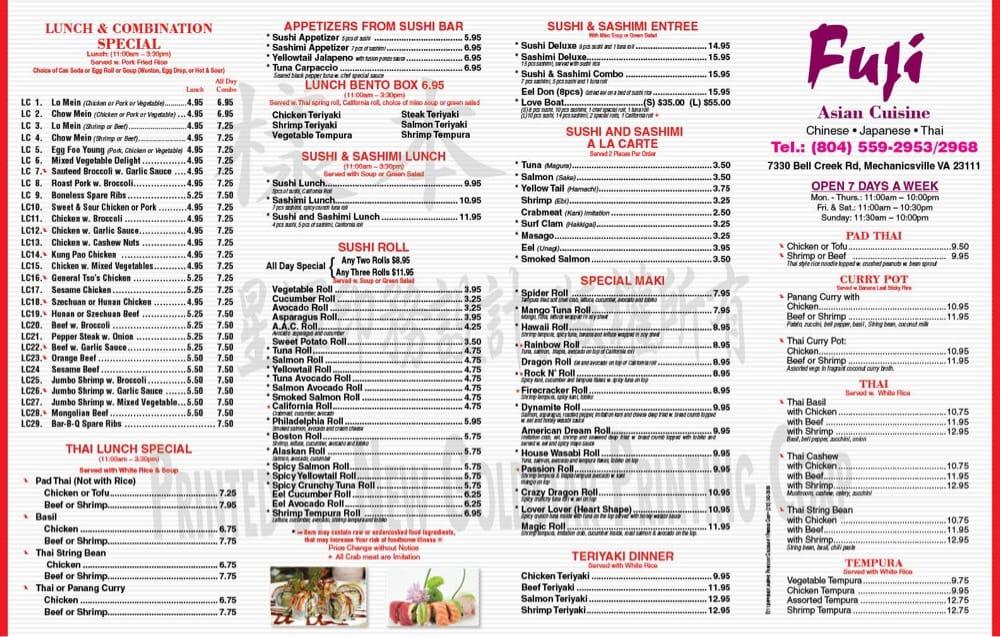 Fuji Asian Cuisine 114