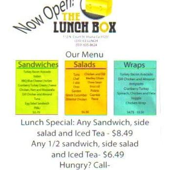 Lunch Box Visalia Ca Restaurant