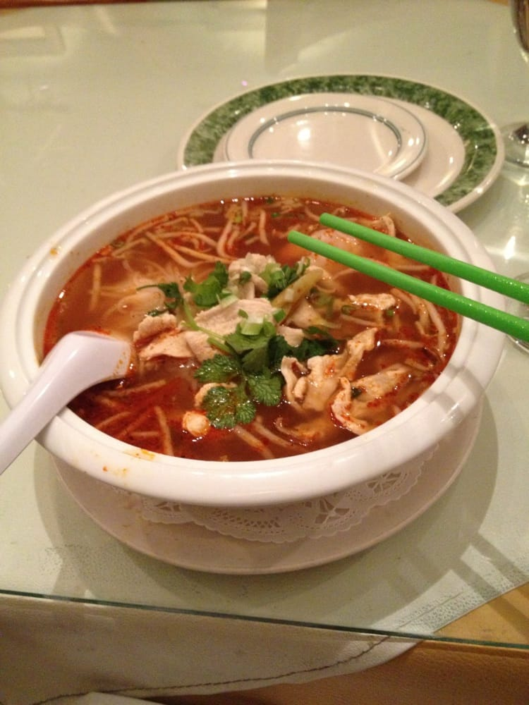 Tom yum noodle soup spice level 4 it was hottt and for Jasmine cuisine