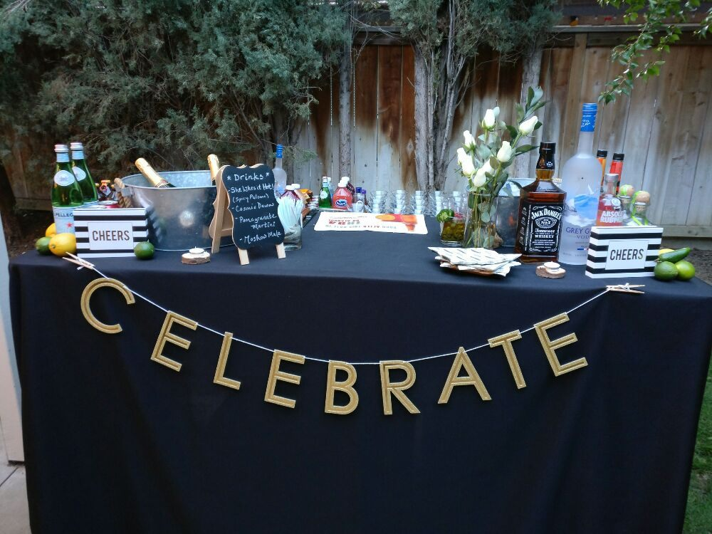 how to set up a bar for a party