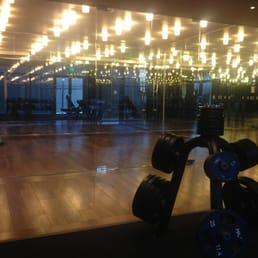 Mirrored Floor Workout Area Yelp