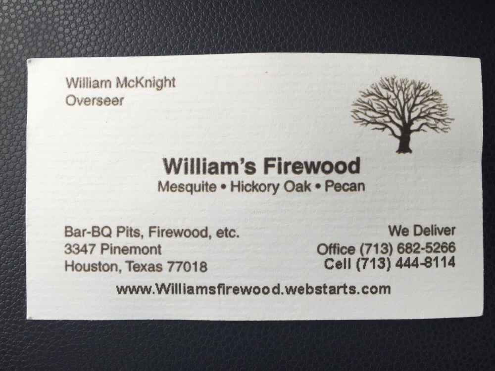William\'s Firewood - Firewood - 3347 Pinemont Dr, Oak Forest/Garden ...
