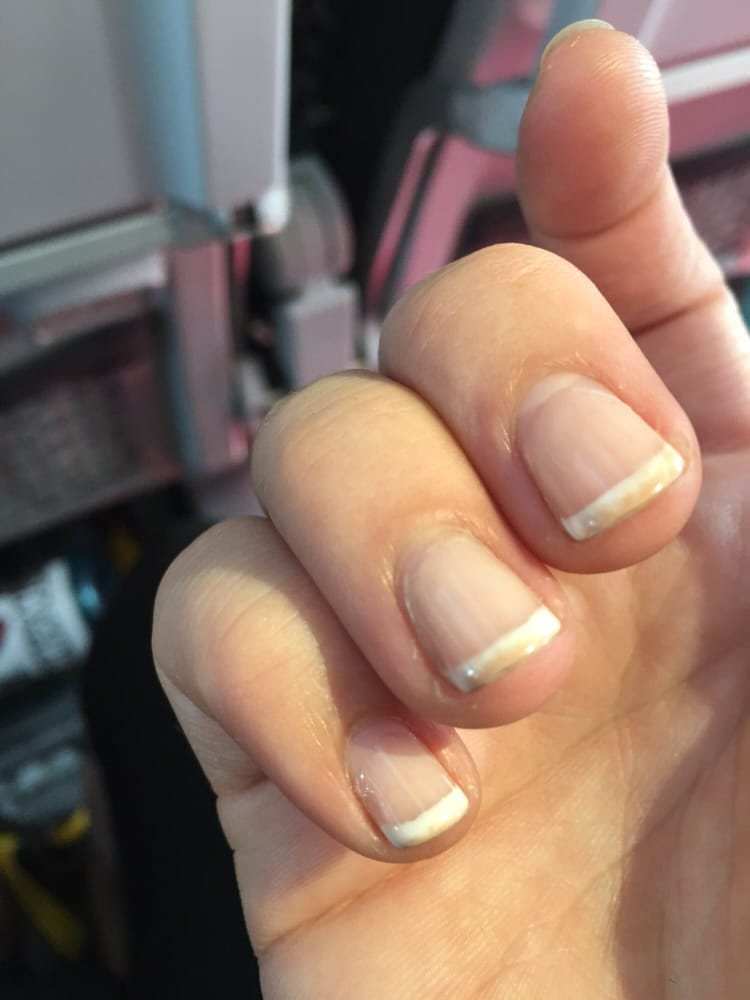 Gel French tips should NOT turn tan within days of being done - Yelp