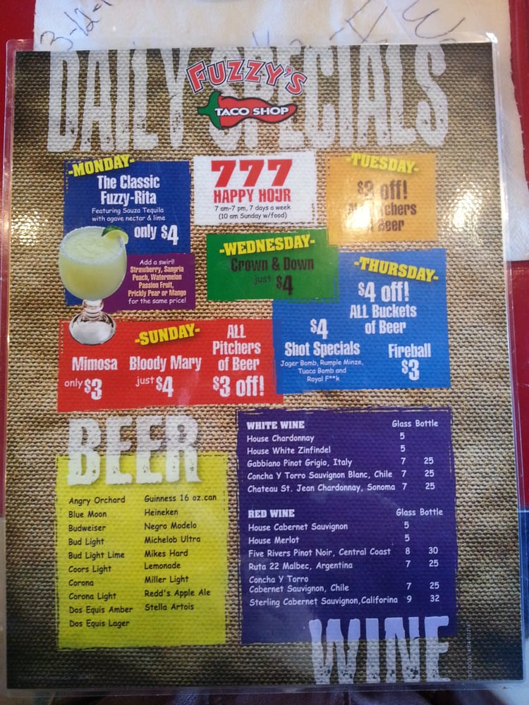 picture relating to Fuzzy's Tacos Printable Menu known as Fuzzy Taco Menu Comparable Key terms Strategies - Fuzzy Taco