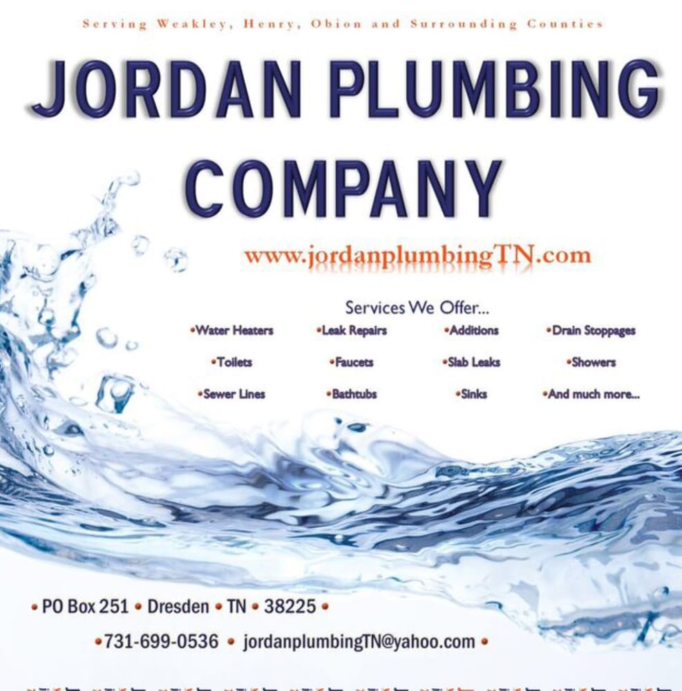 Jordan Plumbing Company: Dresden, TN