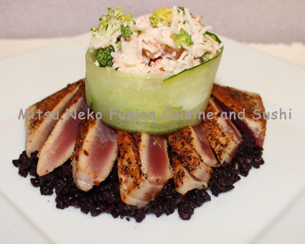 Food from Mitsu Neko Fusion Cuisine and Sushi Bar