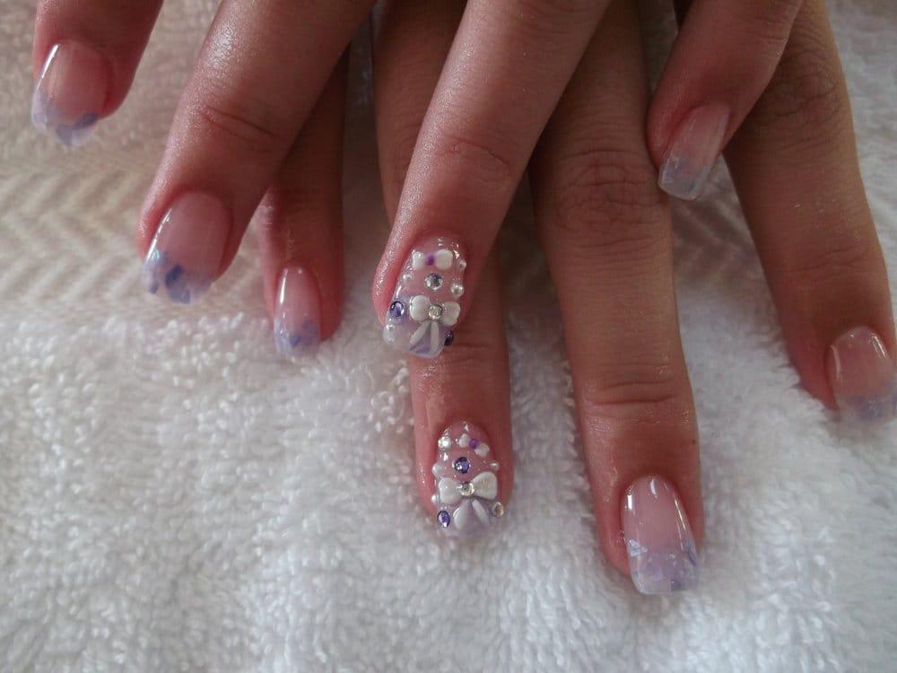 Bow 3d nail art yelp for 3d nail art salon