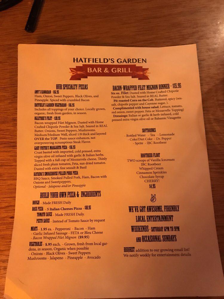 Hatfield's Garden Bar & Grill: 29311 Farm To Market 149, Anderson, TX