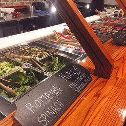 The best salad bar I've been to! Delicious toppings that ...