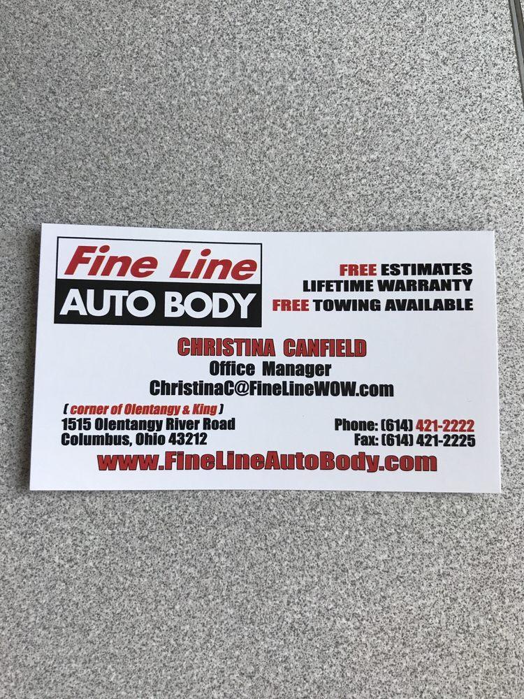 Fine Line Auto >> Fine Line Auto Body Auto Repair 1515 Olentangy River Rd