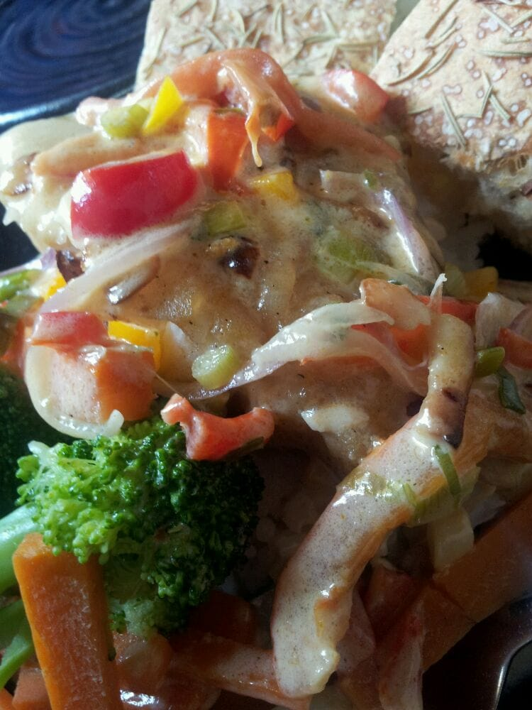 Grouper with thai curry sauce and veggies yelp for Seven fish key west fl